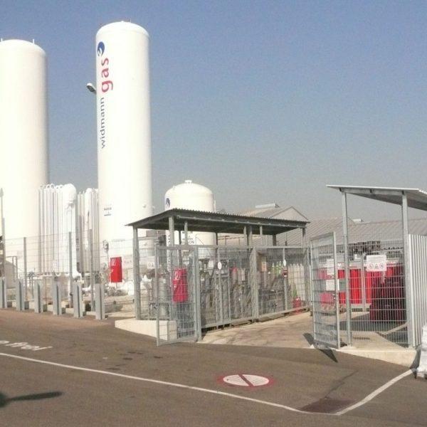 Neubau Gaslager